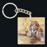 "Pet memorial photo PERSONALIZE Keychain<br><div class=""desc"">If you,  a family member or close friend have lost a cherished pet or have a new one then this fully customizable keyring / keychain is the ideal keepsake. CUSTOMIZE IT - Replace the custom photo template with one of your beautiful animal and keep their memories close to you</div>"