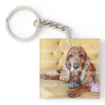 Pet memorial photo PERSONALIZE Keychain