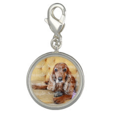 Pet memorial photo PERSONALIZE round Charms