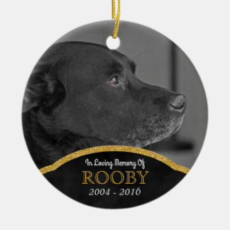Pet Memorial Photo Personalized Dog Condolence Ceramic Ornament