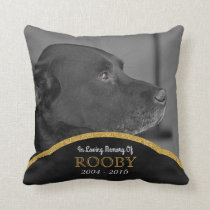 Pet Memorial Photo Personalized | Dog Condolence Throw Pillow