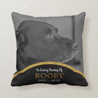 Pet Memorial Photo Personalized   Dog Condolence Throw Pillow