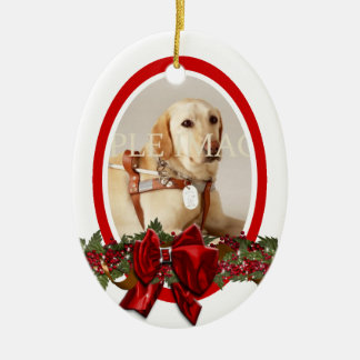 Pet memorial photo red PERSONALIZE Ceramic Ornament