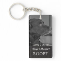 Pet Memorial Photo | Tribute In My Heart Keychain