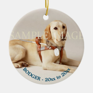 Pet memorial photo verse PERSONALIZE Ceramic Ornament
