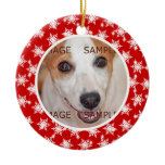 Pet memorial photo verse PERSONALIZE Christmas Ornaments