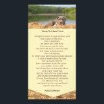"""Pet Memorial Poem Photo Card<br><div class=""""desc"""">Pet Memorial Poem - Tribute to a Best Friend.  Great as a book mark,  gift for loss of a dog,  or a dog sympathy card.   For help with pet loss please visit: www.griefandsympathy.com/griefforpets.html</div>"""