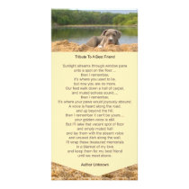 Pet Memorial Poem Photo Card
