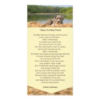 Pet Memorial Poem Photo Card