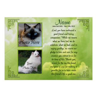 Pet Memorial Poster Print - Religious - Cat Dog
