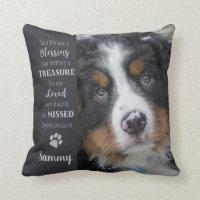 Pet Memorial Quote - Dog Sympathy - Pet Loss Throw Pillow