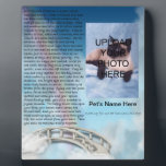 "Pet Memorial Rainbow Bridge Plaque - Personalize<br><div class=""desc"">Add your pet&#39;s photo and name to this beautiful remembrance with the Rainbow Bridge poem.</div>"