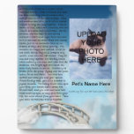 Pet Memorial Rainbow Bridge Plaque - Personalize<br><div class='desc'>Add your pet&#39;s photo and name to this beautiful remembrance with the Rainbow Bridge poem.</div>