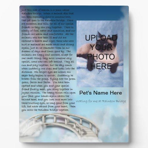 Pet memorial rainbow bridge plaque personalize zazzle
