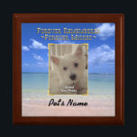 """Pet Memorial Treasure Keeper Box<br><div class=""""desc"""">Go Wild~ The passing of a pet is the hardest part of sharing our lives with one. This keepsake box provides a special place for an ID tag, a clipping of fur and other precious mementos. Personalize this special box with your beloved pet&#39;s name, with no extra fee. This box...</div>"""