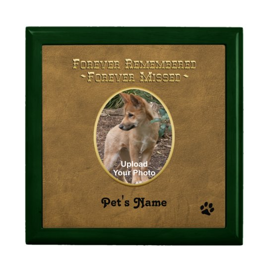 Pet Memorial Treasure Keeper Box