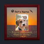 "Pet Memorial Treasure Keeper Box<br><div class=""desc"">Go Wild~ The passing of a pet is the hardest part of sharing our lives with one. This keepsake box provides a special place for an ID tag, a clipping of fur and other precious mementos. Personalize this special box with your beloved pet&#39;s name, with no extra fee. This box...</div>"