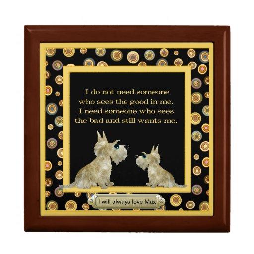 Pet Memorial Treasure Keeper Box Jewelry Boxes