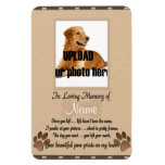 Pet Memorial -Your Beautifu Paw Prints on My Heart Flexible Magnets