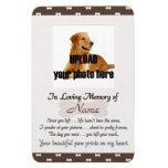 Pet Memorial -Your Beautifu Paw Prints on My Heart Vinyl Magnet