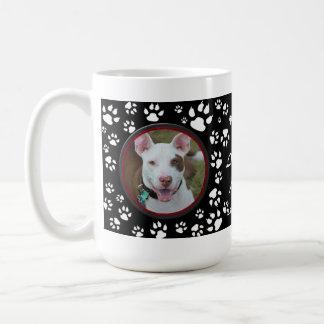 Pet Memorial Your Pet Photos Black Dog Prints Coffee Mug