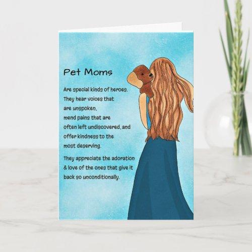 Pet Moms Greeting Card