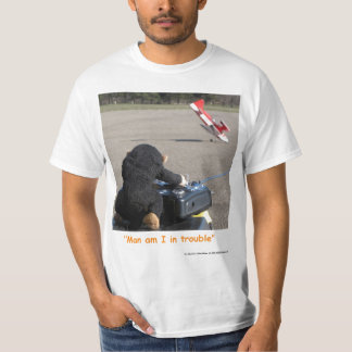 Pet Monkey crashing dads RC Airplane T-Shirt