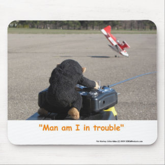 Pet Monkey Crashing Dads RC Plane Mouse Mat