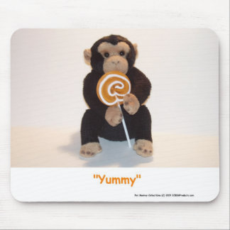 Pet Monkey Eating a HUGE Sucker Mouse Mat