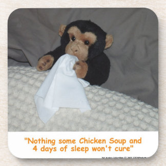 Pet Monkey with a Bad Cold Coaster Set