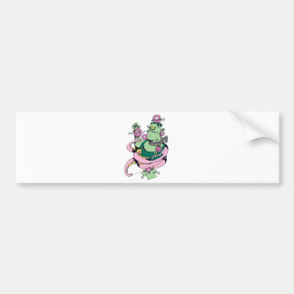 pet monster with pets funny vector cartoon car bumper sticker
