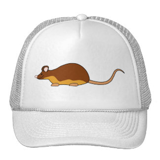 Pet Mouse. Chocolate Brown, Tan. Trucker Hats