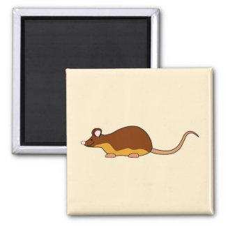 Pet Mouse Chocolate Brown Tan Fridge Magnet