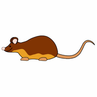 Pet Mouse. Chocolate Brown, Tan. Statuette