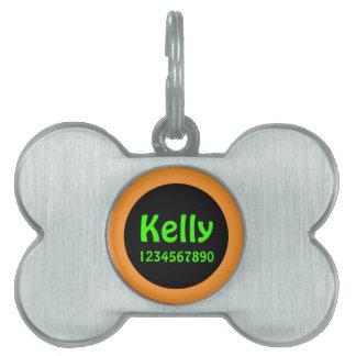 Pet name identification girl pet name tag