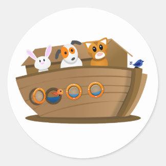 PET Noah's Ark Classic Round Sticker