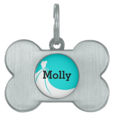 Bride Themed Pet of Honor Pet Name Tag