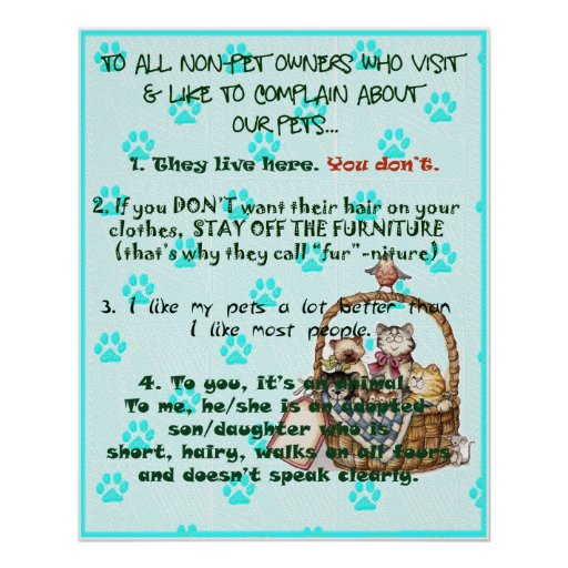 Pet Owners Poster