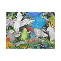 Pet Parrots of the World Doormat