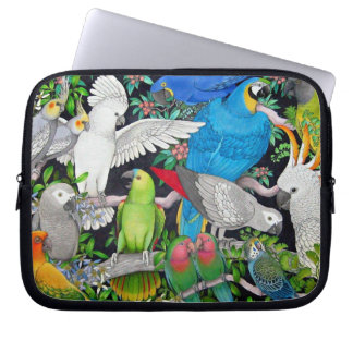 Pet Parrots of the World Electronics Bag Laptop Sleeves