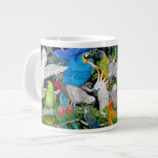 Pet Parrots of the World Jumbo Mug