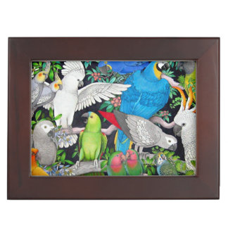 Pet Parrots of the World Keepsake Box