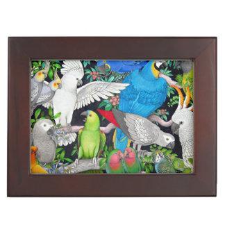 Pet Parrots of the World Keepsake Box