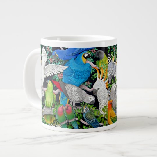 Pet Parrots of the World Large Coffee Mug