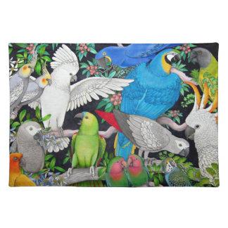 Pet Parrots of the World Placemat
