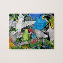 Pet Parrots of the World Puzzle