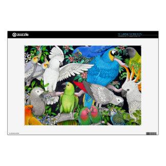 Pet Parrots of the World Skin Decals For Laptops