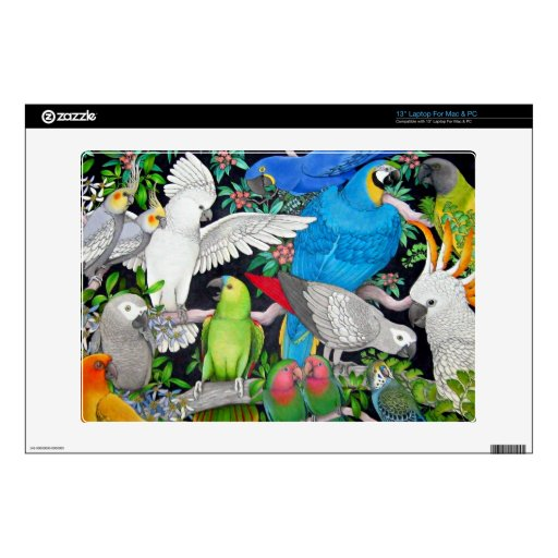 Pet Parrots of the World Skin Laptop Decal