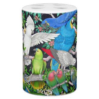 Pet Parrots of the World Soap Dispenser & Toothbrush Holder
