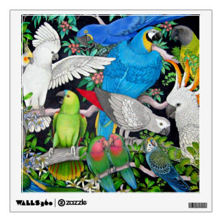 Pet Parrots of the World Wall Decal